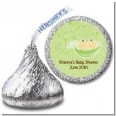 Twins Two Peas in a Pod Asian - Hershey Kiss Baby Shower Sticker Labels