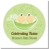 Twins Two Peas in a Pod Asian - Personalized Baby Shower Table Confetti