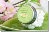 Twins Two Peas in a Pod Asian Two Boys - Personalized Baby Shower Candy Jar