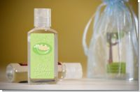 Twins Two Peas in a Pod Caucasian Boy And Girl - Personalized Baby Shower Hand Sanitizers Favors