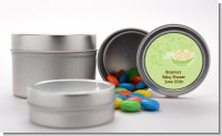 Twins Two Peas in a Pod Caucasian - Custom Baby Shower Favor Tins