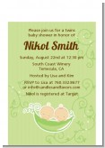 Twins Two Peas in a Pod Caucasian - Baby Shower Petite Invitations