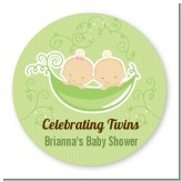 Twins Two Peas in a Pod Caucasian - Personalized Baby Shower Table Confetti