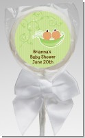 Twins Two Peas in a Pod Hispanic - Personalized Baby Shower Lollipop Favors