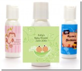 Twins Two Peas in a Pod Hispanic - Personalized Baby Shower Lotion Favors