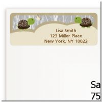 Twin Turtles - Baby Shower Return Address Labels