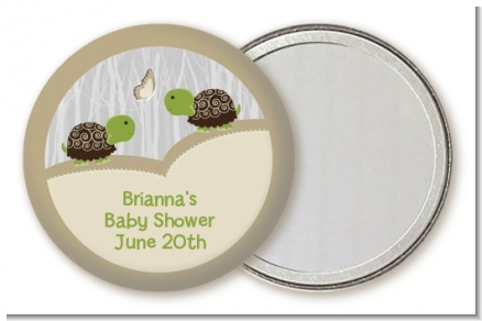 Twin Turtles - Personalized Baby Shower Pocket Mirror Favors
