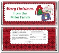 Ugly Sweater - Personalized Christmas Candy Bar Wrappers