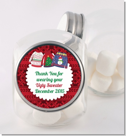 Ugly Sweater - Personalized Christmas Candy Jar