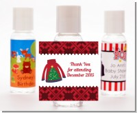 Ugly Sweater - Personalized Christmas Hand Sanitizers Favors