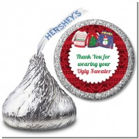 Ugly Sweater - Hershey Kiss Christmas Sticker Labels