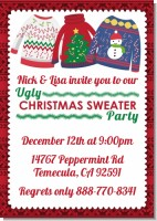 Ugly Sweater - Christmas Invitations