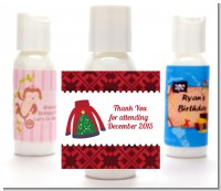 Ugly Sweater - Personalized Christmas Lotion Favors