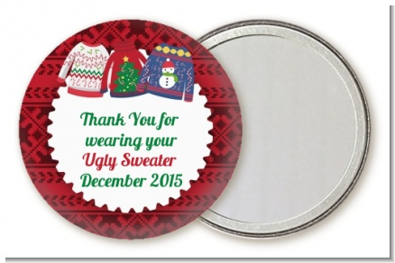 Ugly Sweater - Personalized Christmas Pocket Mirror Favors