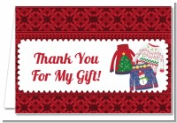 Ugly Sweater - Christmas Thank You Cards