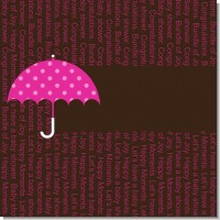 Baby Sprinkle Umbrella Pink Baby Shower Theme