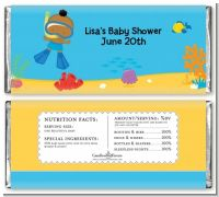 Under the Sea African American Baby Boy Snorkeling - Personalized Baby Shower Candy Bar Wrappers
