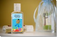Under the Sea African American Baby Boy Snorkeling - Personalized Baby Shower Hand Sanitizers Favors