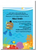 Under the Sea African American Baby Boy Snorkeling - Baby Shower Petite Invitations