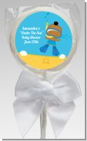 Under the Sea African American Baby Boy Snorkeling - Personalized Baby Shower Lollipop Favors
