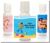 Under the Sea African American Baby Boy Snorkeling - Personalized Baby Shower Lotion Favors
