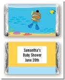 Under the Sea African American Baby Boy Snorkeling - Personalized Baby Shower Mini Candy Bar Wrappers