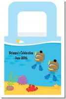 Under the Sea African American Baby Boy Twins Snorkeling - Personalized Baby Shower Favor Boxes