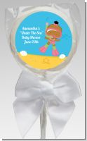 Under the Sea African American Baby Girl Snorkeling - Personalized Baby Shower Lollipop Favors