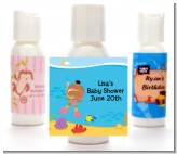 Under the Sea African American Baby Girl Snorkeling - Personalized Baby Shower Lotion Favors