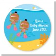 Under the Sea African American Baby Girl Twins Snorkeling - Personalized Baby Shower Table Confetti thumbnail