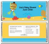 Under the Sea African American Baby Snorkeling - Personalized Baby Shower Candy Bar Wrappers