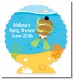 Under the Sea African American Baby Snorkeling - Personalized Baby Shower Centerpiece Stand thumbnail