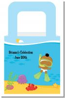 Under the Sea African American Baby Snorkeling - Personalized Baby Shower Favor Boxes