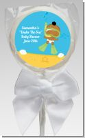 Under the Sea African American Baby Snorkeling - Personalized Baby Shower Lollipop Favors