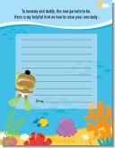 Under the Sea African American Baby Snorkeling - Baby Shower Notes of Advice