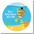 Under the Sea African American Baby Snorkeling - Personalized Baby Shower Table Confetti thumbnail