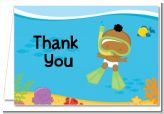 Under the Sea African American Baby Snorkeling - Baby Shower Thank You Cards