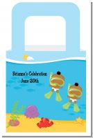 Under the Sea African American Baby Twins Snorkeling - Personalized Baby Shower Favor Boxes