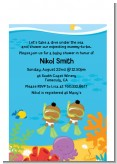 Under the Sea African American Baby Twins Snorkeling - Baby Shower Petite Invitations