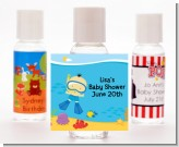 Under the Sea Asian Baby Boy Snorkeling - Personalized Baby Shower Hand Sanitizers Favors