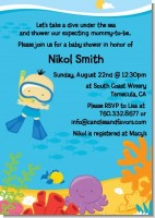 Under the Sea Asian Baby Boy Snorkeling - Baby Shower Invitations