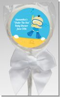 Under the Sea Asian Baby Boy Snorkeling - Personalized Baby Shower Lollipop Favors
