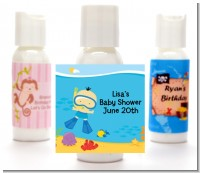 Under the Sea Asian Baby Boy Snorkeling - Personalized Baby Shower Lotion Favors