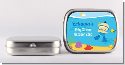 Under the Sea Asian Baby Boy Snorkeling - Personalized Baby Shower Mint Tins