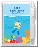 Under the Sea Asian Baby Boy Snorkeling - Baby Shower Personalized Notebook Favor