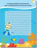 Under the Sea Asian Baby Boy Snorkeling - Baby Shower Notes of Advice