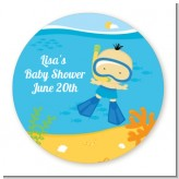 Under the Sea Asian Baby Boy Snorkeling - Personalized Baby Shower Table Confetti