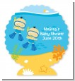 Under the Sea Asian Baby Boy Twins Snorkeling - Personalized Baby Shower Centerpiece Stand thumbnail