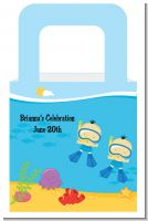 Under the Sea Asian Baby Boy Twins Snorkeling - Personalized Baby Shower Favor Boxes