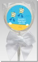 Under the Sea Asian Baby Boy Twins Snorkeling - Personalized Baby Shower Lollipop Favors